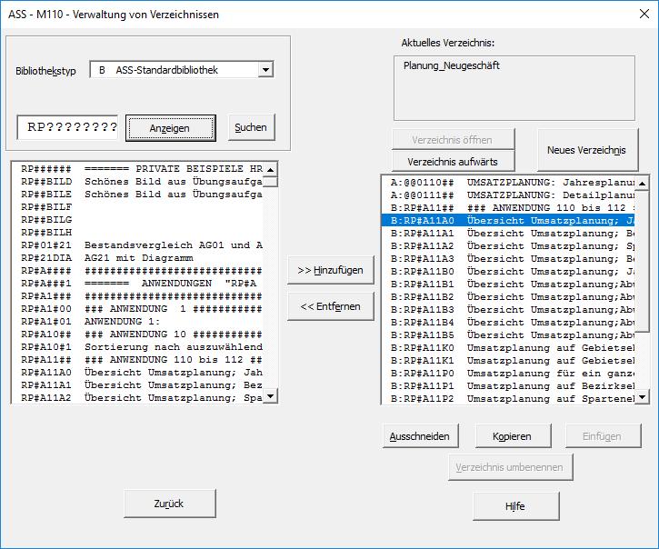 ASS 8.50 - Auswertung ASS-Excel - UBA Software